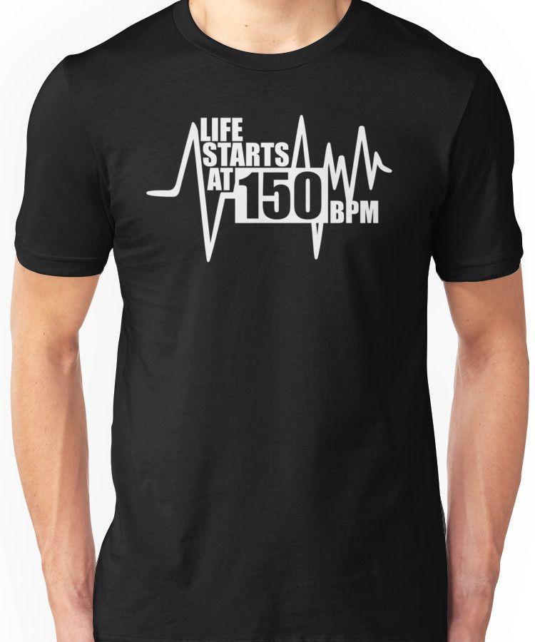 80a41ad22 Life starts at 150 BPM | Slim Fit T-Shirt | Tatuajes De Geisha ...