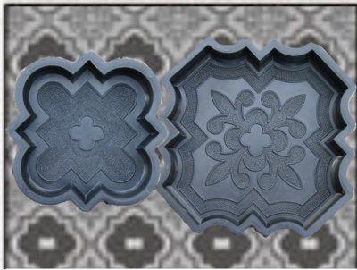 Gjutform, Nr. 200, trädgårdsplatta, marockansk,  marksten, 2-set
