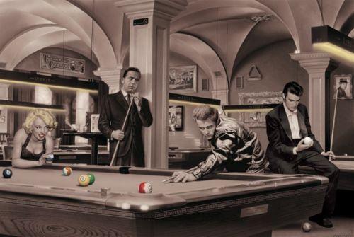 Chris Consani Marilyn Monroe James Dean Elvis Pool Table Poster