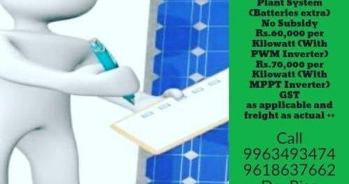 Just Pinned To How To Make It Solar System Costs 1 Kw Off Grid Solar Energy Solar Solar System