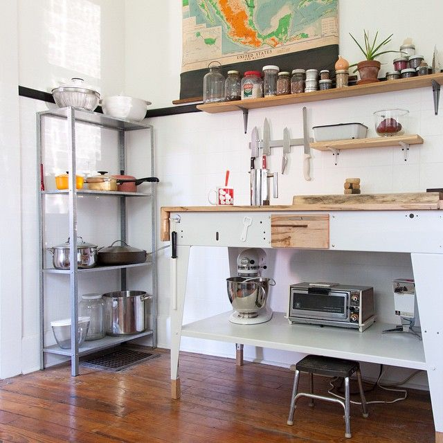 The kitchen island prototype that inspired a series. I love it when we get to keep the original.