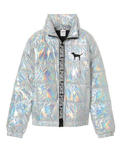 Victoria Secret Sport Metallic Bomber Jacket