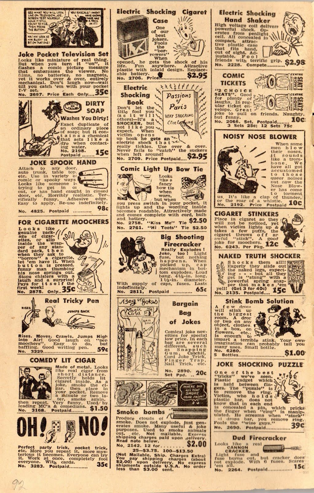 Presenting Johnson Smith The Last Of The Big Time Novelty Catalogs 1959 Introduction Old Comic Books Old Comics Comic Books
