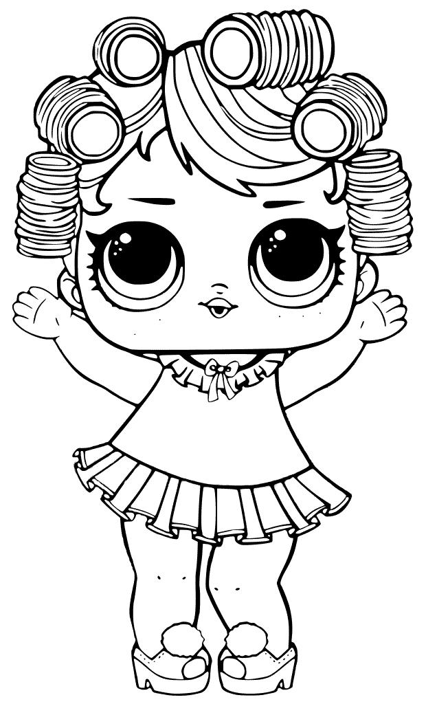 Раскраски «Куклы LOL» - «Кукла ЛОЛ пижамная вечеринка ...