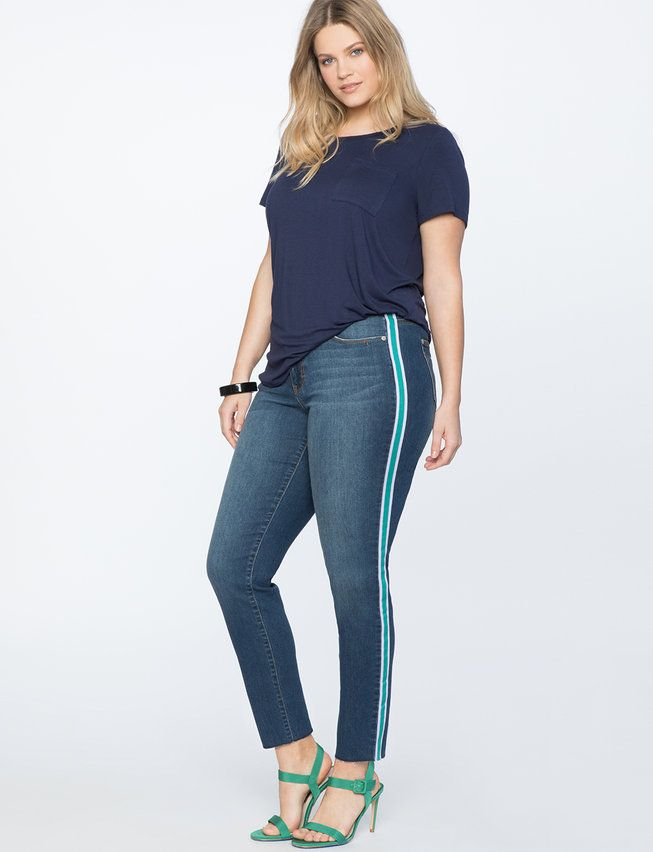 db89fd2052c View our Destructed Hem Skinny Jean and shop our selection of designer women s  plus size Pants