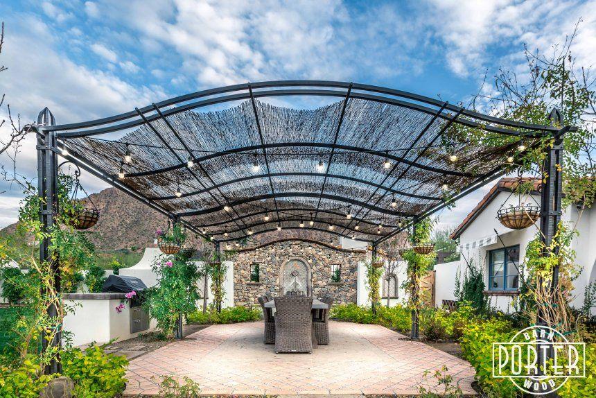 modern metal pergola kit steel diy retractable canopy ...