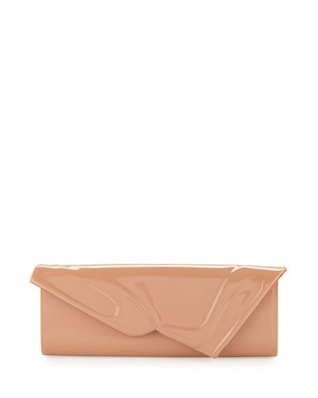23a1e45a48a CHRISTIAN LOUBOUTIN So Kate Patent East-West Clutch Bag, Nude.  #christianlouboutin #bags #patent #clutch #lining #suede #hand bags #
