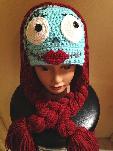 Sally from Nightmare Before Christmas Crocheted Hat, Made to Order ...