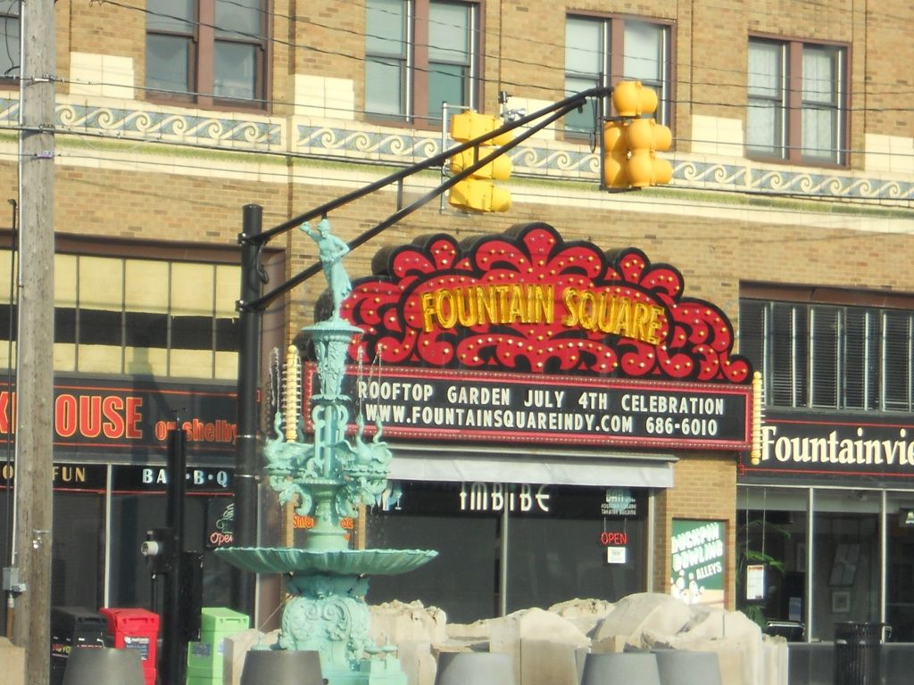 Fountain Square- great attraction in Indiana