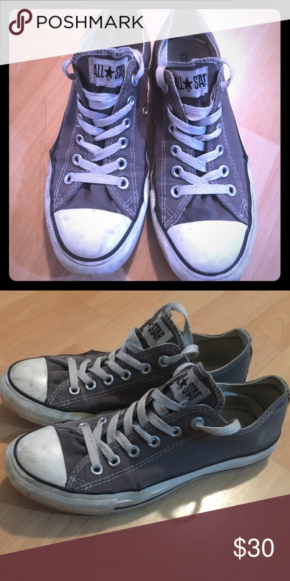 grey converse shoes size 6