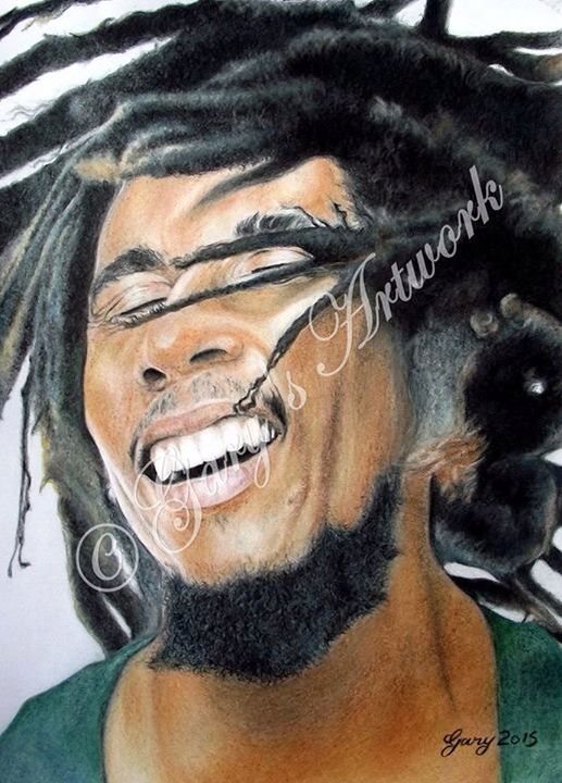 Pin by Gary Forsdick portrait artist on Bob | Portrait, Bob marley, Hair styles