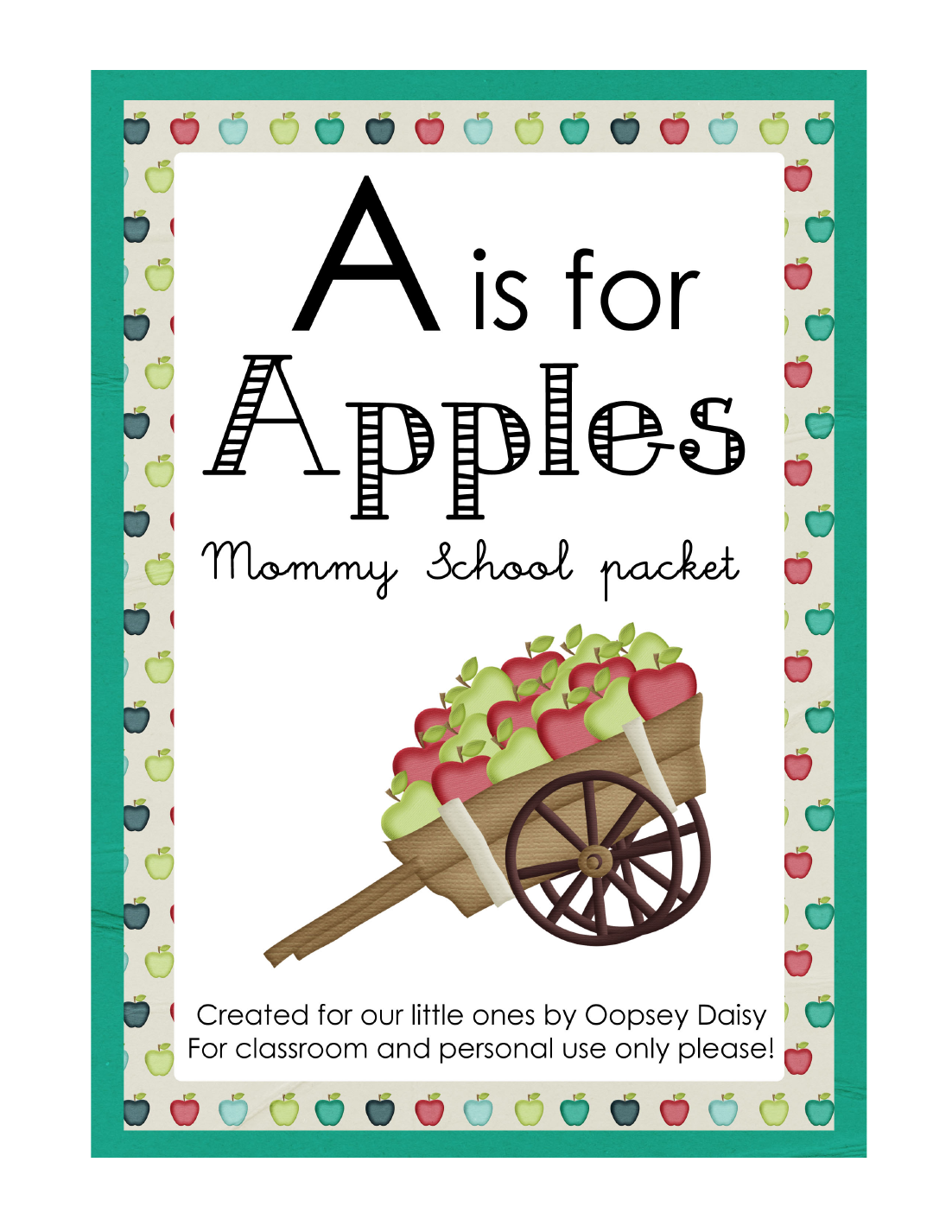 Apple activities FREE A is for Apples download from