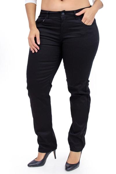 Plus Size Black Cotton Skinny Pants