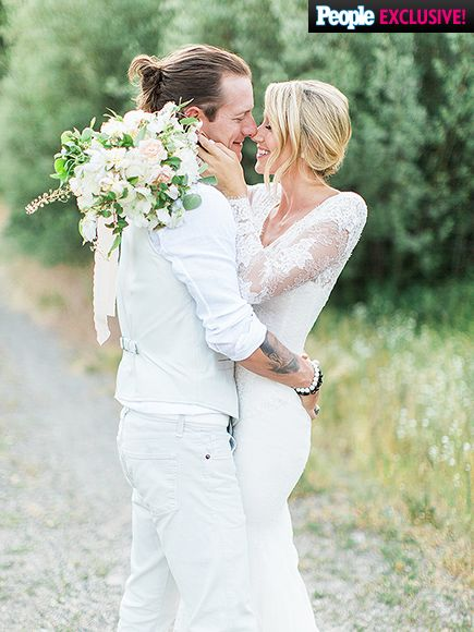 Happily married husband and wife: Tyler Hubbard and Hayley Stommel at their wedding ceremony