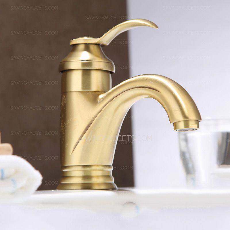Vintage Brass Single Hole Single Handle Bathroom Faucets 118 99