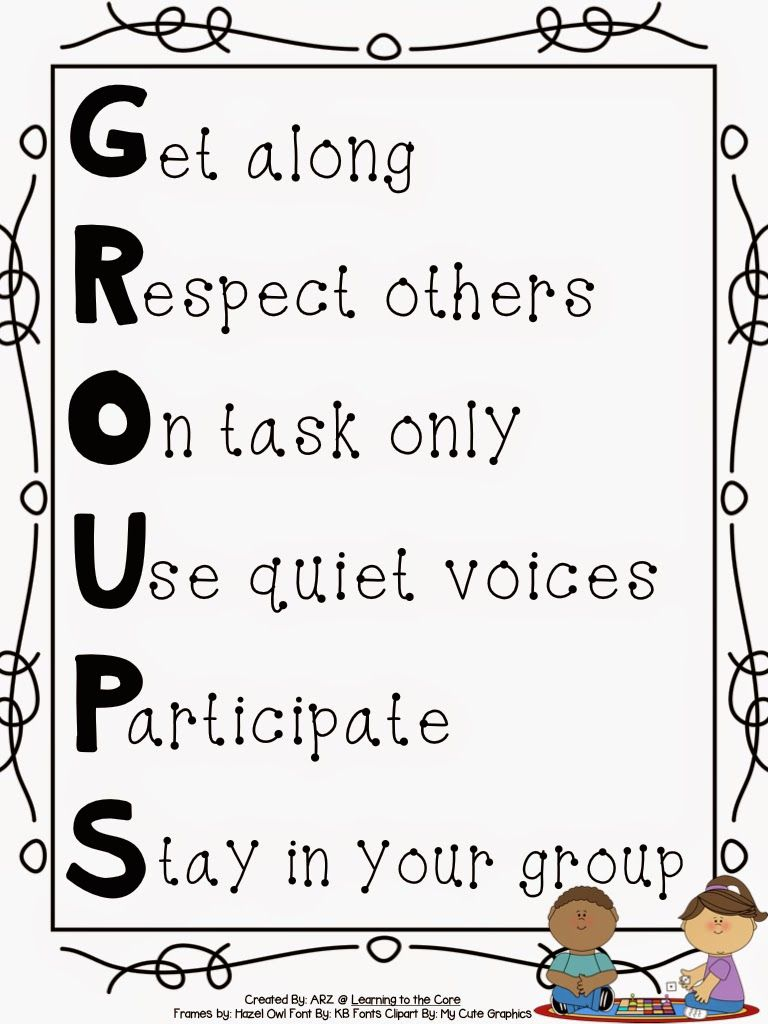 medium resolution of Free} Groups Anchor Chart to help students understand expectations when  working with groups.   Classroom anchor charts