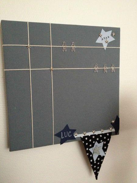 Diy Fabric Jewelry Cork Board Porte Photo Mural Peinture Tableau Noir Pele Mele Photo