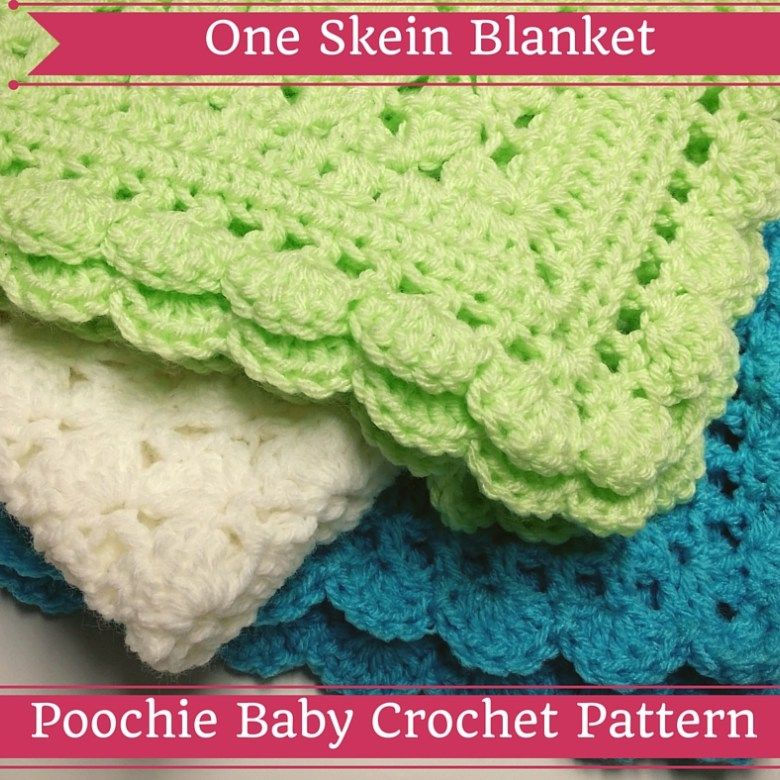 crochet pattern for a one skein baby blanket | Projects to Try ...