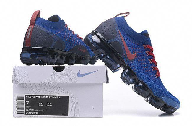 13f71759b0db0 Nike Air VaporMax Flyknit 2 Black Blue Men s Running Shoes in 2019 ...