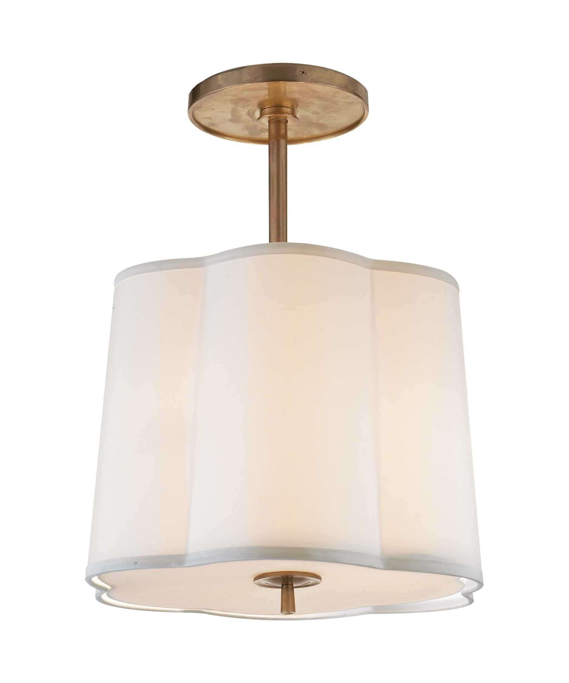 Barbara Barry Simple Scallop 15 Inch Large Pendant By Visual