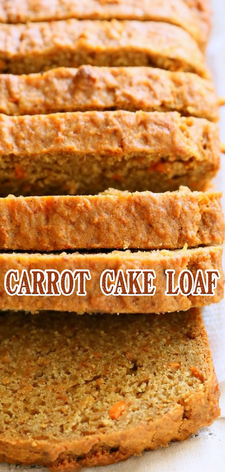 Carrot Cake Loaf Recipe Apple Pie Bars Easy In 2018 Pinterest