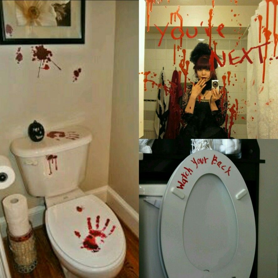 Bathroom Decor Halloween Decorations Party Scary Halloween Party Decor Halloween Bathroom