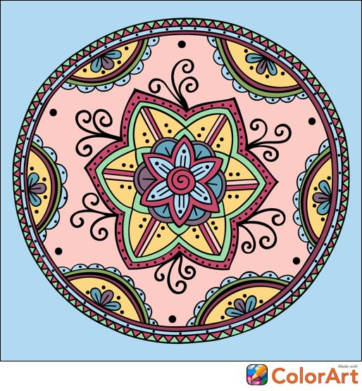 Http Itunes Apple Com App Id1020818294 Colorful Art Color Therapy Mandala