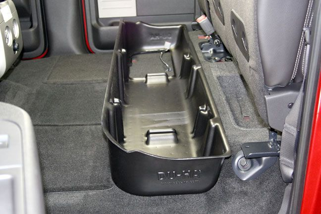 Photo Shows The Du Ha Under The Back Seat With The