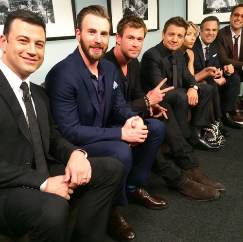 The Avengers Cast with Jimmy Kimmel April 13, 2015