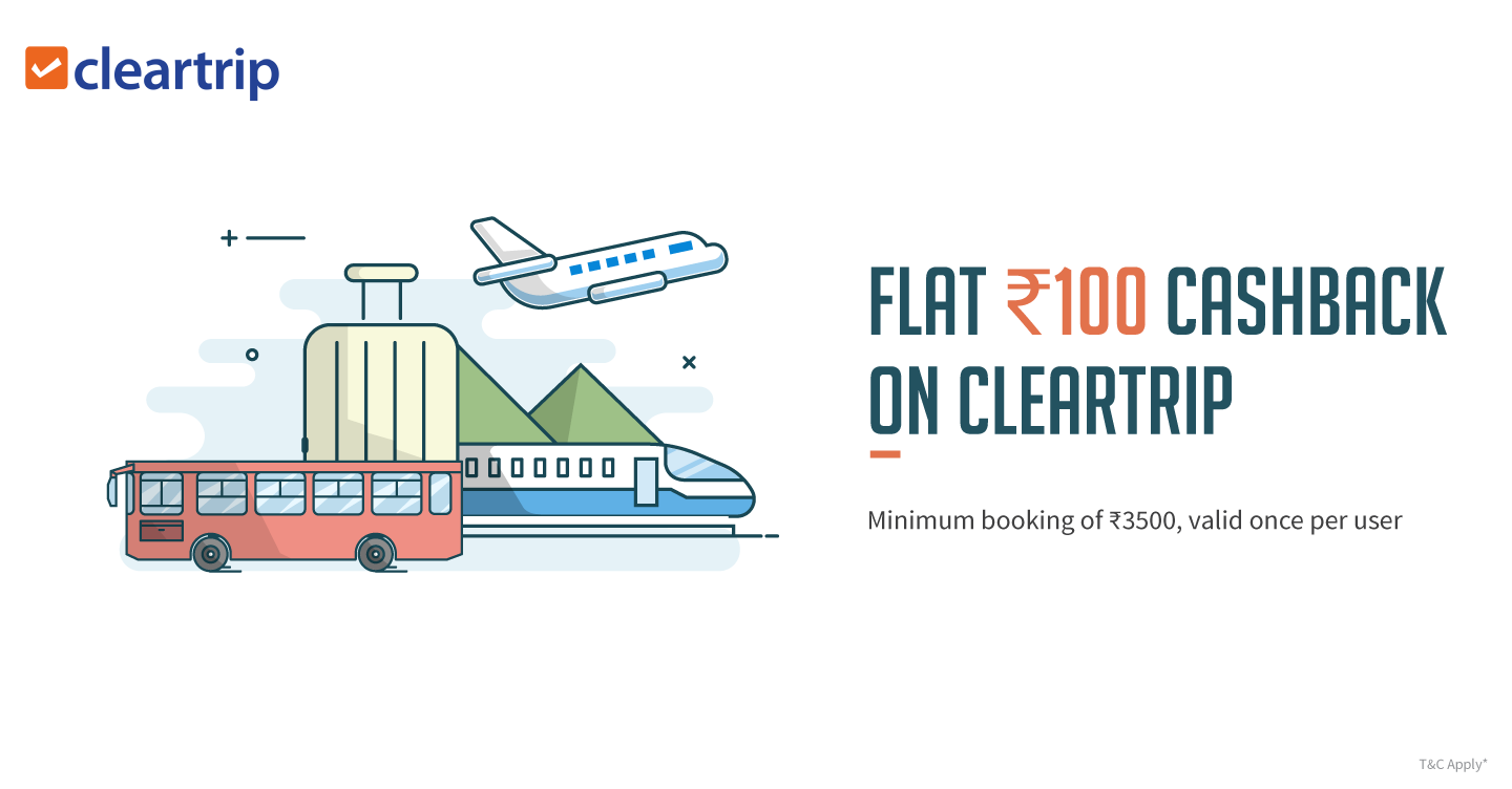 Freecharge Cleartrip Offer : Get FLAT Rs 100 Cashback | DesiLootera