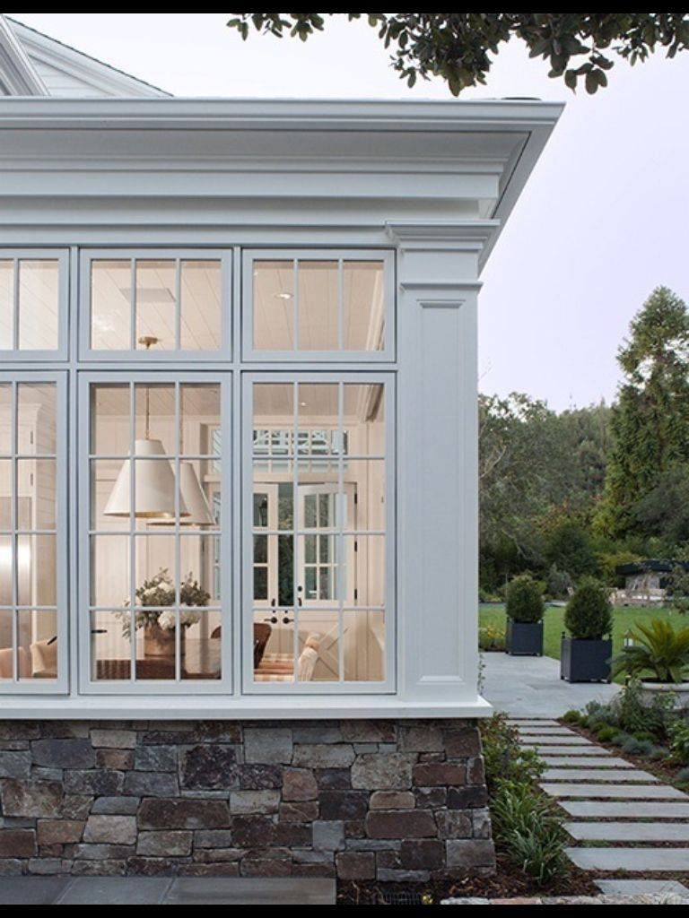 Exterior design of window  walkway  side porches  pinterest  walkways sunroom and porch