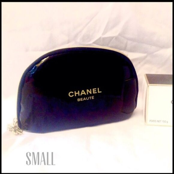 Fabulous Cosmetic or Coin Purse Fabulous bag small bag can be used for cosmetics or as a coin purse. It is large enough to hold your phone. The CC snowflake pull is a detail that adds elegance to this Chanel bag. No marks or scuffs on this zippered bag. CHANEL Bags Cosmetic Bags & Cases