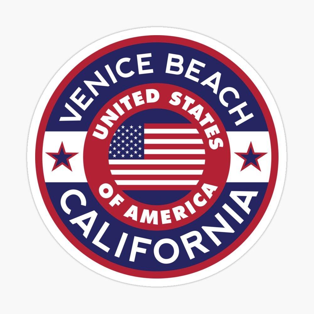 California Venice Beach Usa Sticker By Alma Studio In 2020 Travel Stamp Travel Stickers Studio [ 1000 x 1000 Pixel ]