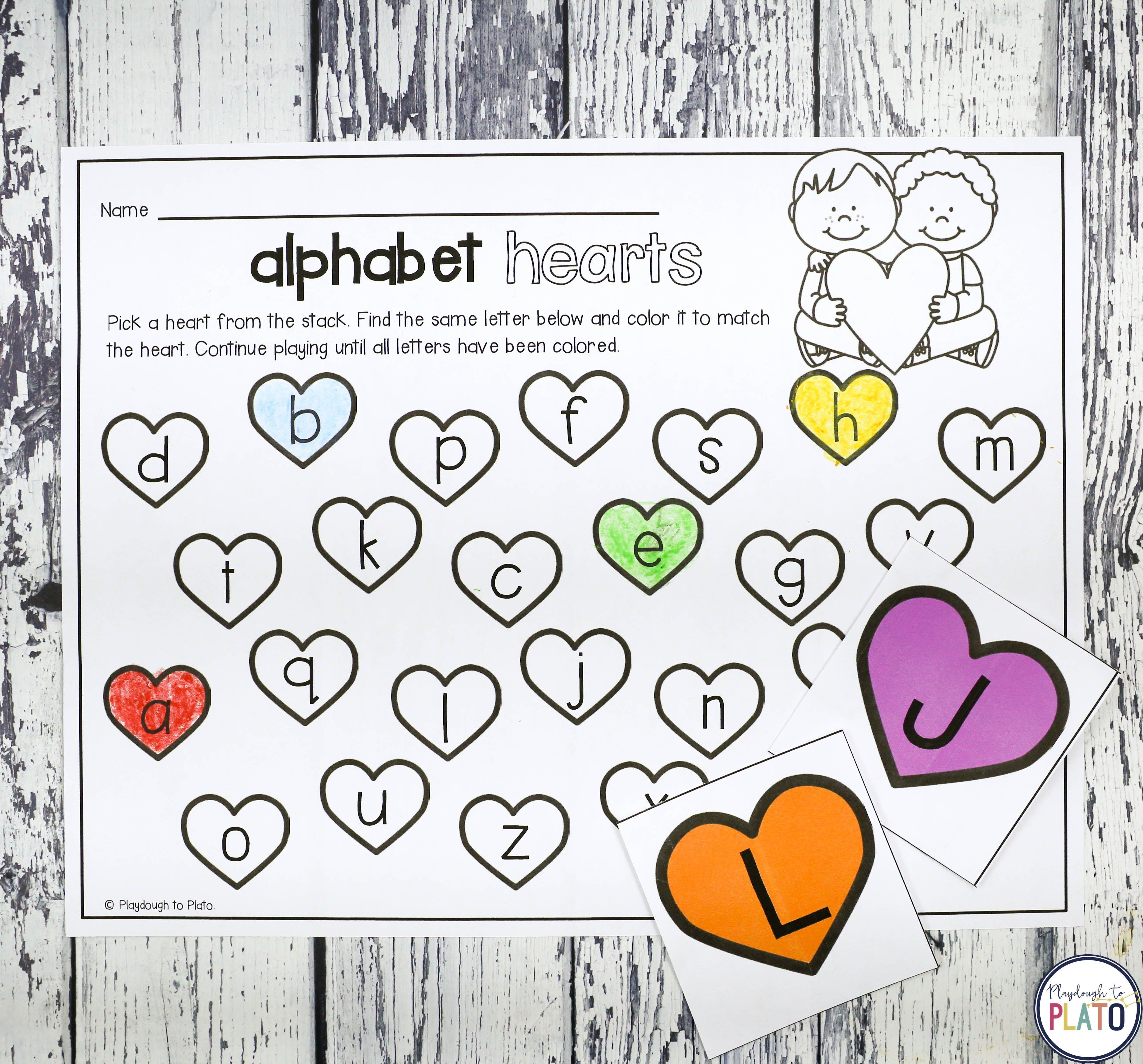 Alphabet Hearts