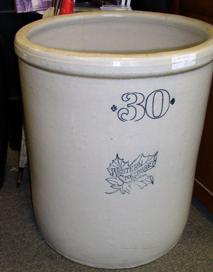 Western Stoneware Co 30 Gal Crock 495 Advertising