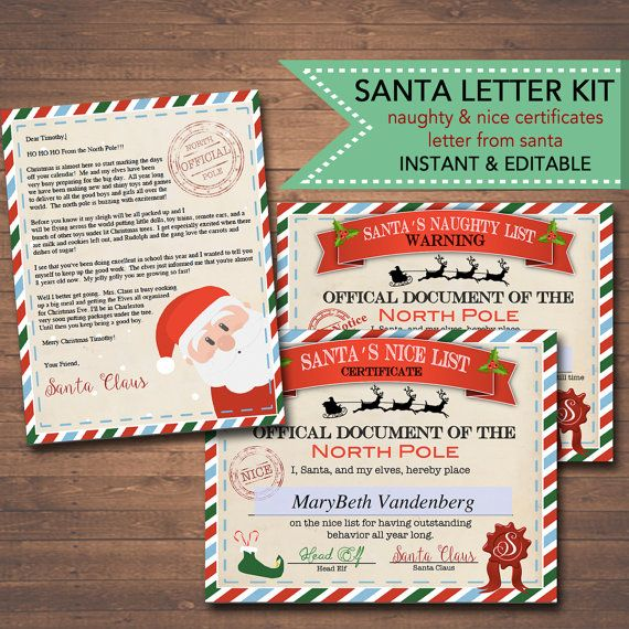 Editable nicenaughty certificates santa letter christmas reward editable nicenaughty certificates santa letter christmas reward certificate santas nice list letter yelopaper Images