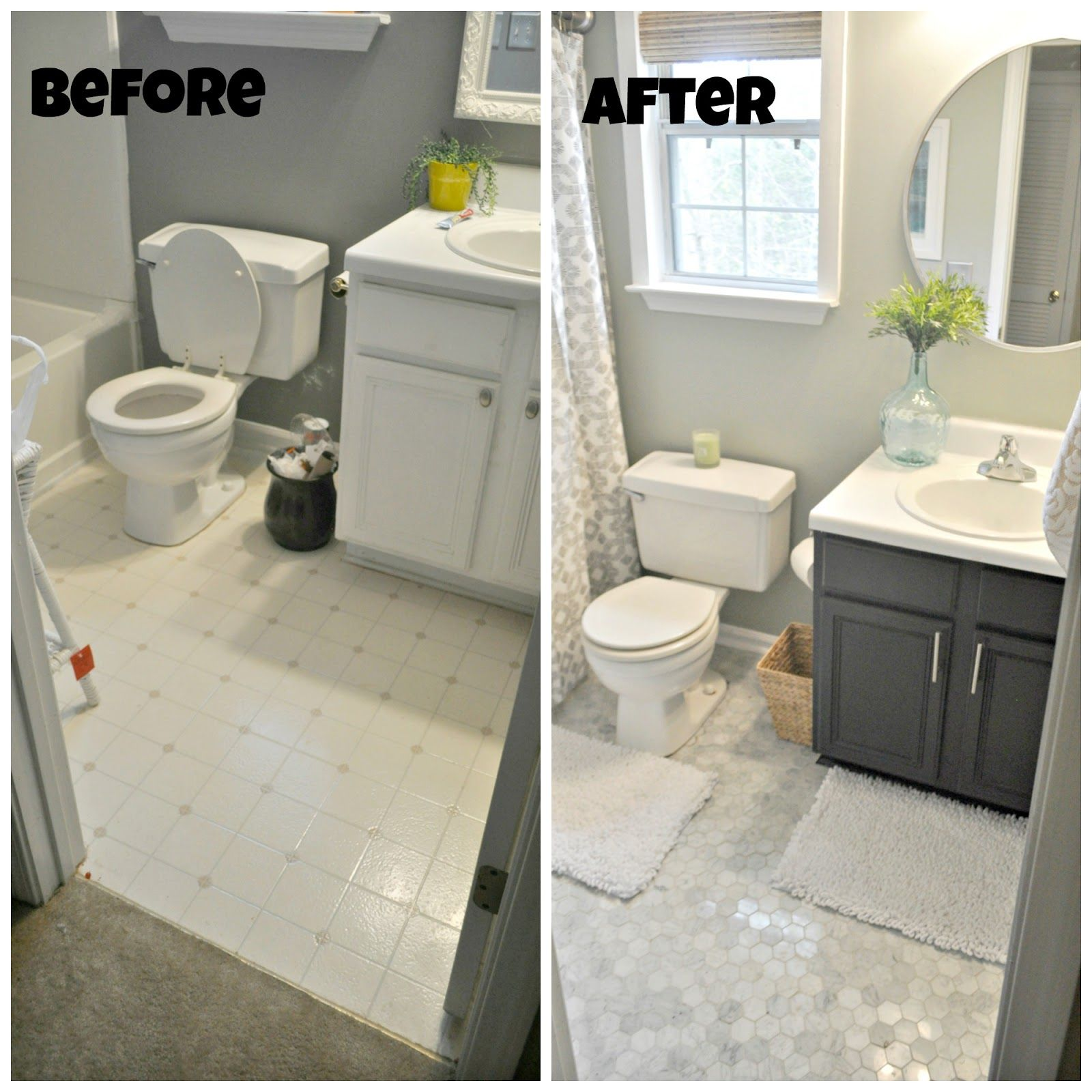 Guest Bathroom Makeover Reveal With Images Budget Bathroom Remodel Simple Bathroom Small Bathroom Remodel