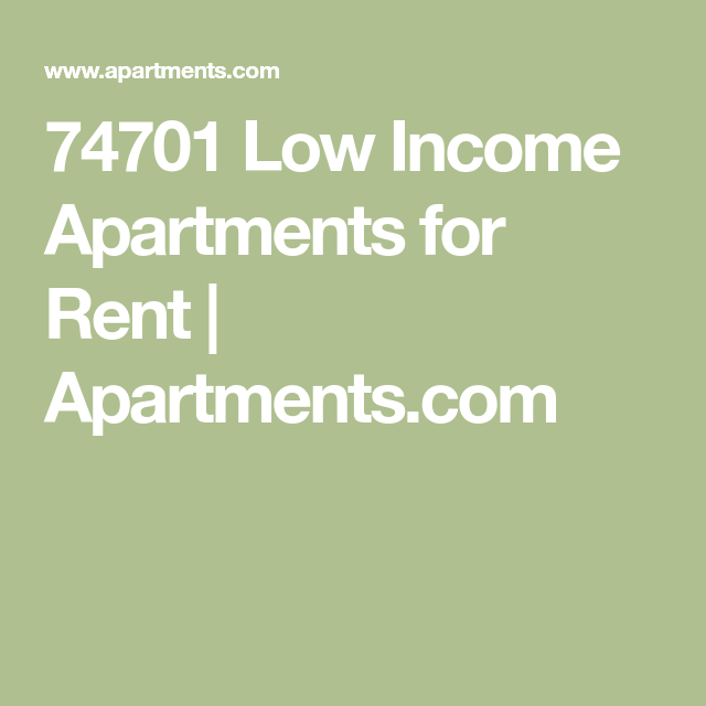 74701 Low Income Apartments For Rent