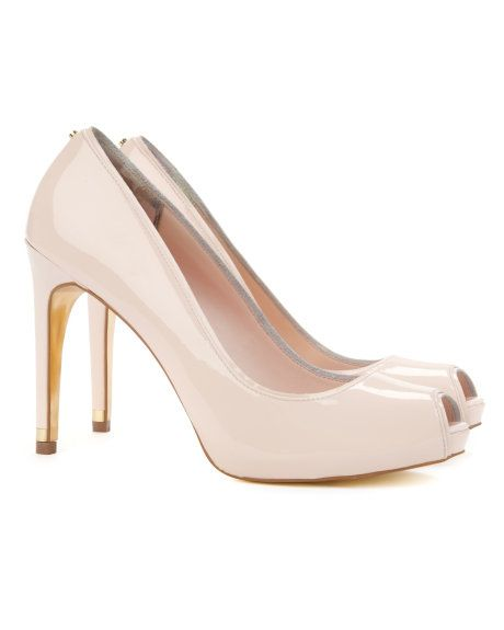 40d4a111e9f GLISTER - Peep toe shoe - Nude Pink | Womens | Ted Baker | Shoes ...