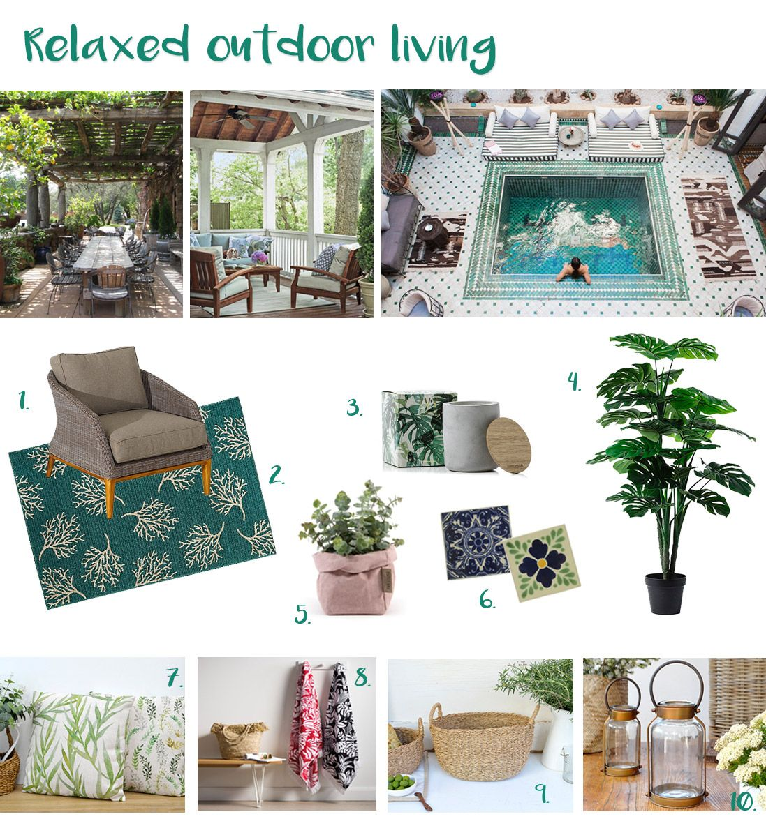 Mood board: relaxed outdoor living - HomeStyleFile (With ... on Relaxed Outdoor Living id=26183