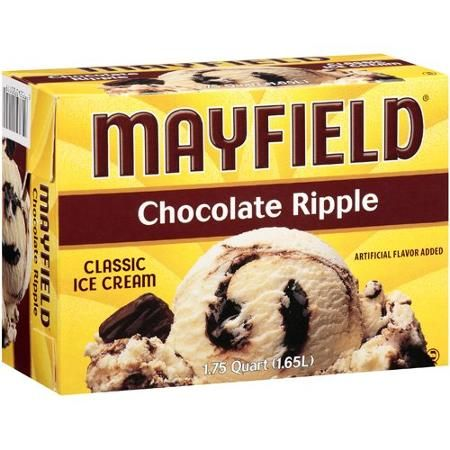 Mayfield Chocolate Ripple Ice Cream 175 qt Food Grocery