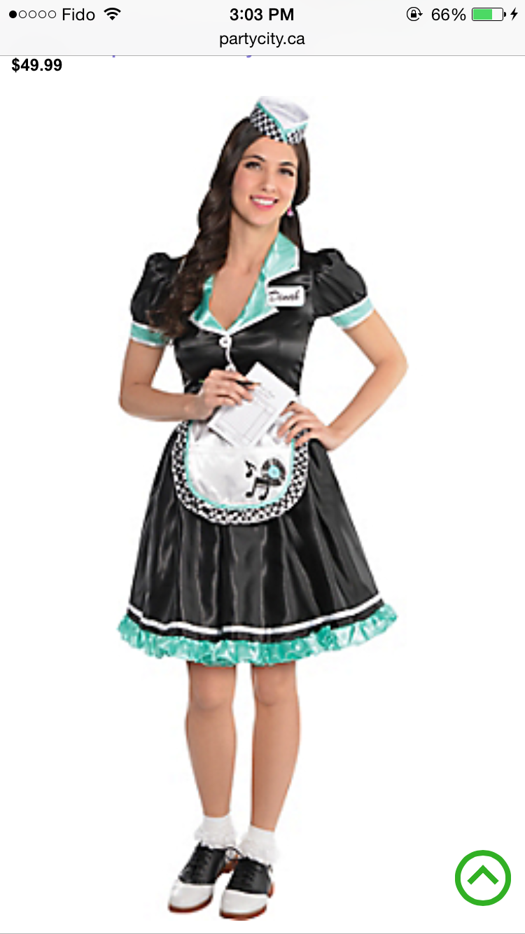 1950's Diner Waitress Costume Party city costumes