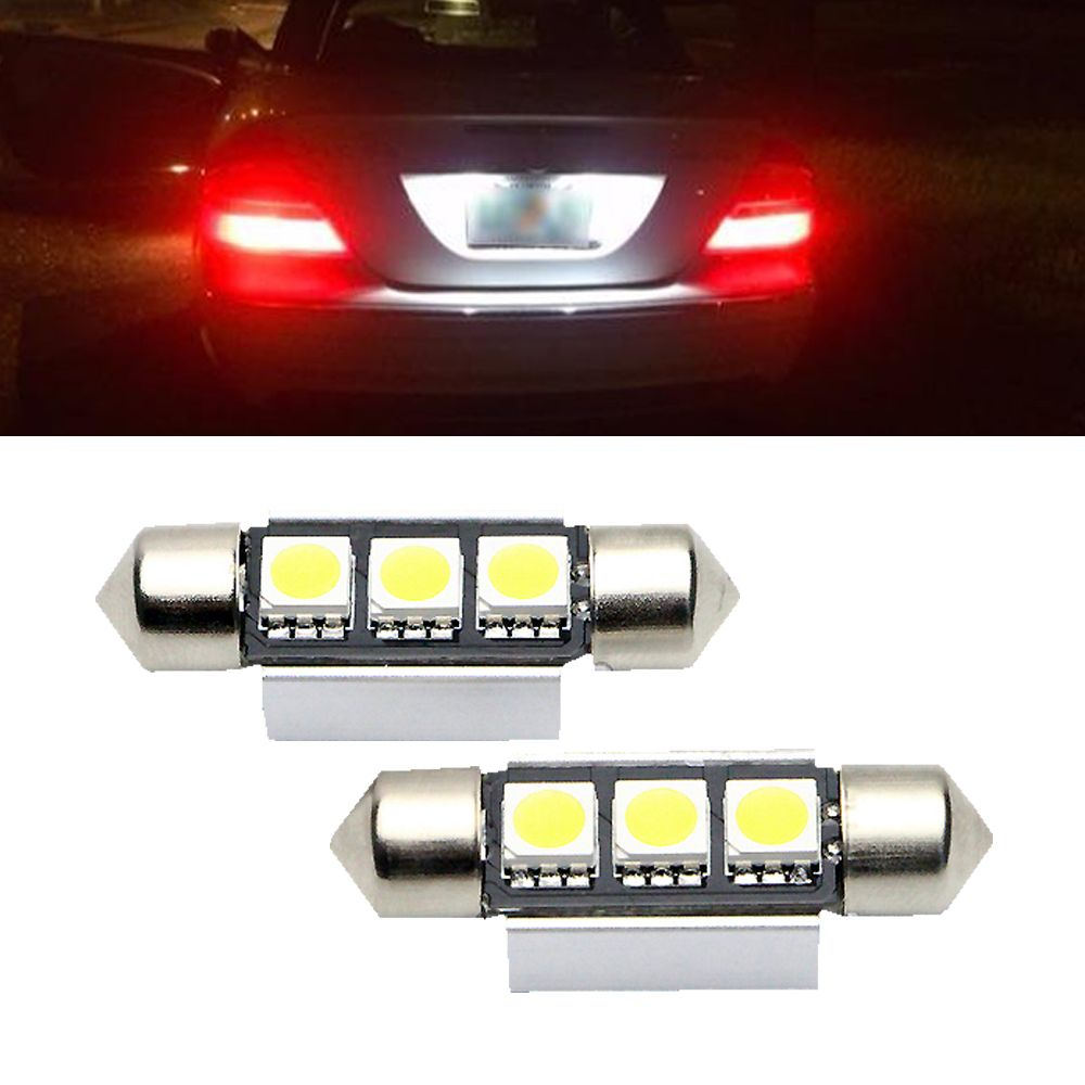 2x Ultra Bright White 36mm 3smd Led License Number Plate Light For Vw Passat B5 B6 Golf 4 5 Mk4 Mk5 Jetta Scirocco 12v Car Li Car Lights Number Plate Vw Passat