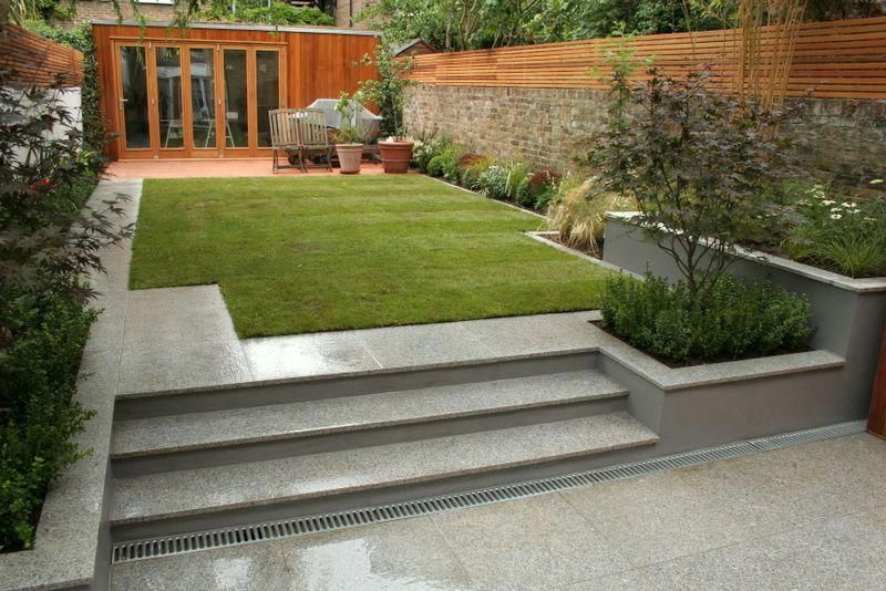 Modern Garden Design Summer House Garden Sloped Garden Contemporary Garden