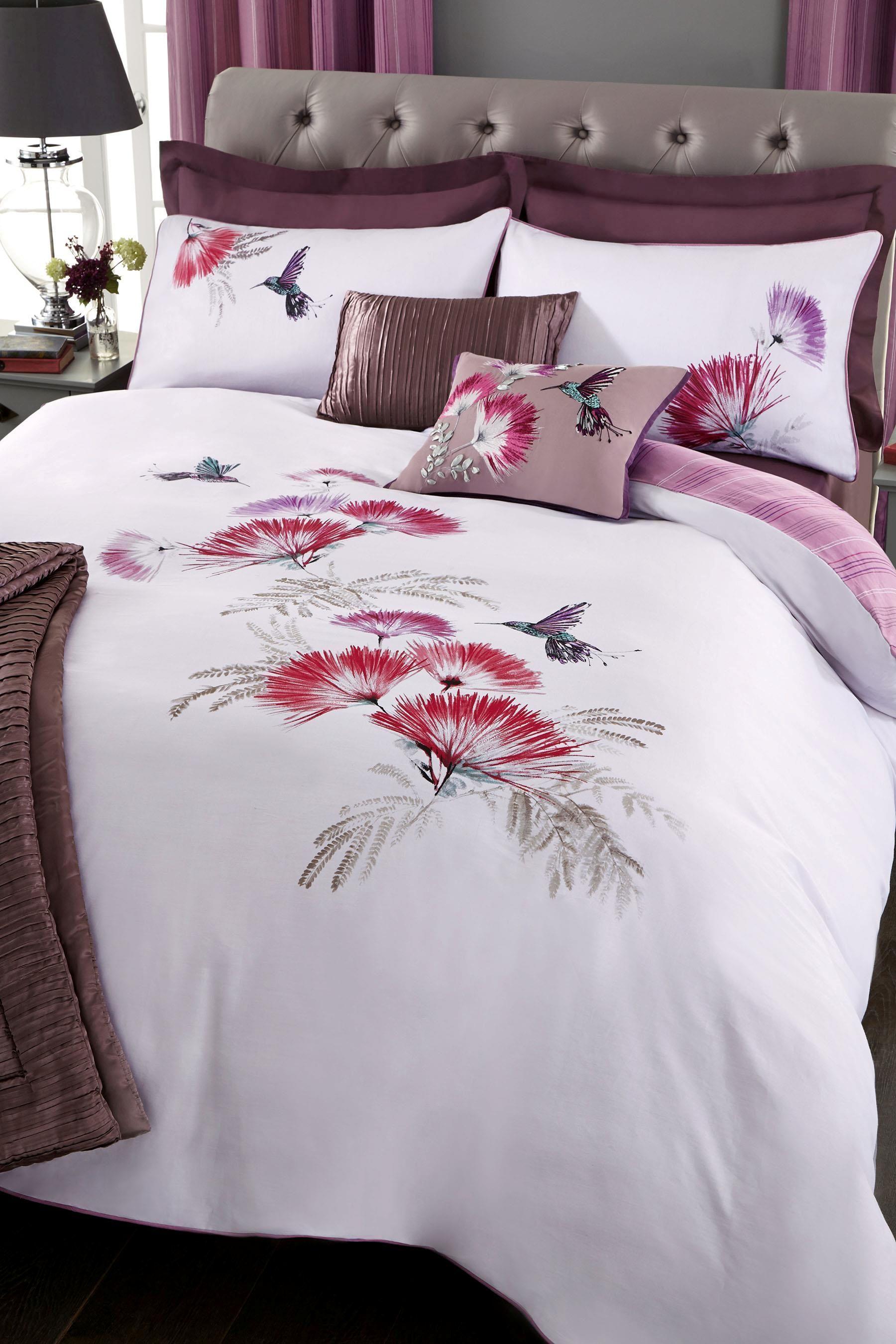 Buy Mauve Hummingbird Cotton Sateen Bed Set online today at Next: New Zealand