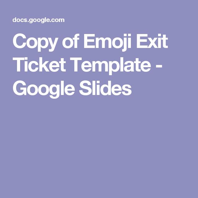 Copy Of Emoji Exit Ticket Template  Google Slides  Emoji