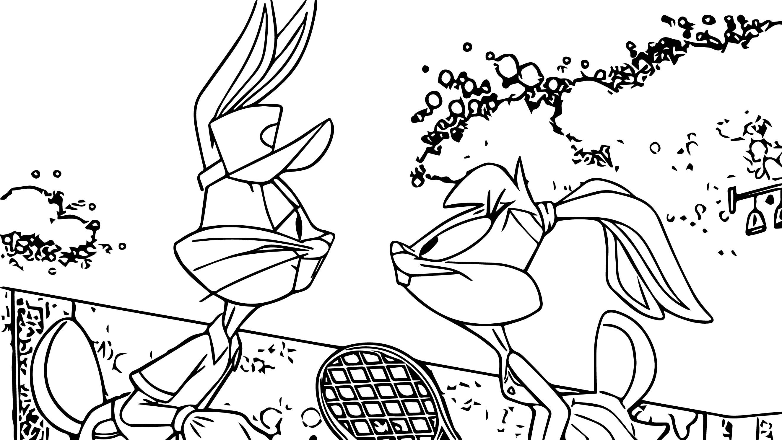 Nice Looney Tunes Bugs Bunny And Lola Bunny Tennis Love Coloring Page Love Coloring Pages Coloring Pages Looney Tunes Bugs Bunny