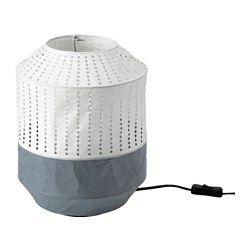 Majorna Lampe De Table Blanc Gris Lampe De Chevet Ikea Lampe De Table Blanche Et Lampe En Papier