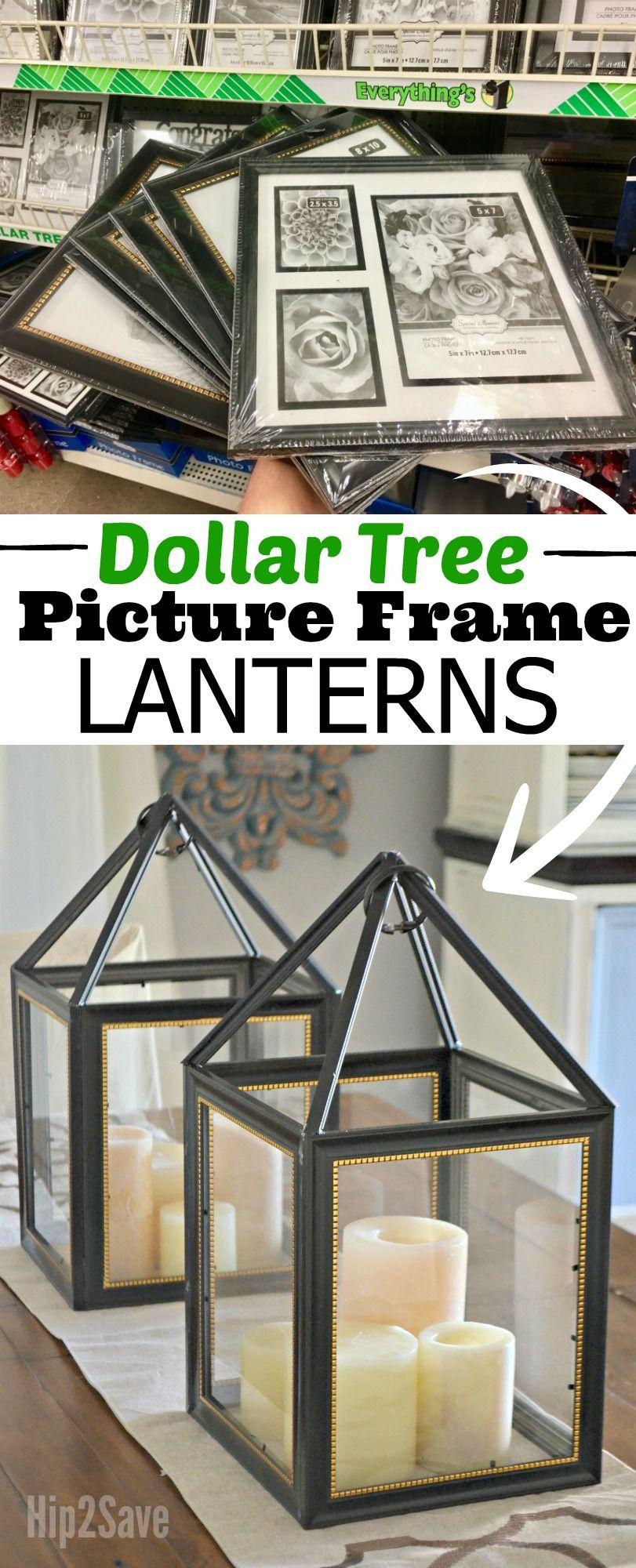 DIY Dollar Tree Picture Frame Lanterns | Farben und Liebe