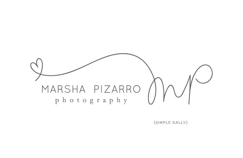 Custom logos for photographers mp marsha pizarro